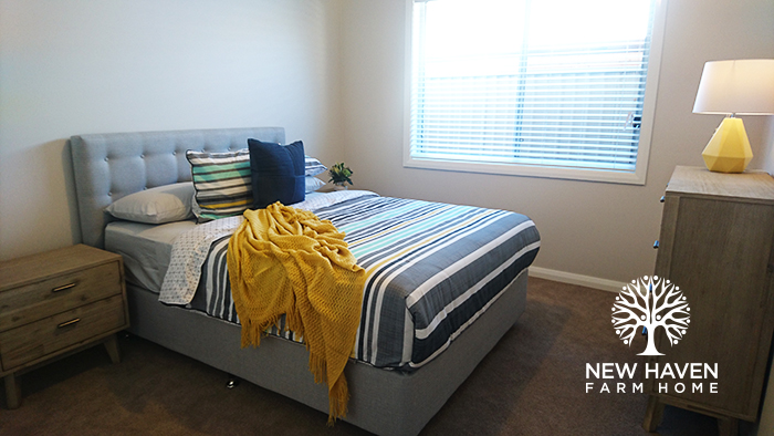 bedroom. home, accommodation provider, disability support service